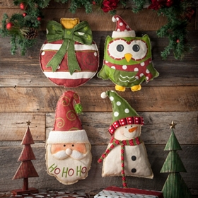 Burlap Christmas Door Hangers