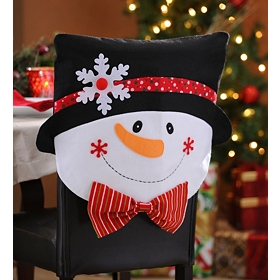 Mr. & Mrs. Snowman Chair Covers