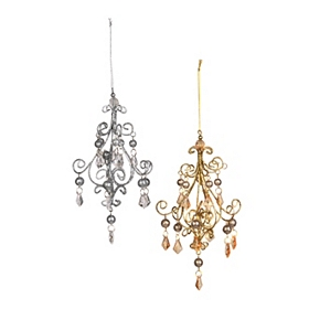 Metallic Chandelier Ornament