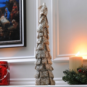 Shimmering Burlap Ribbon Tree, 18 in.