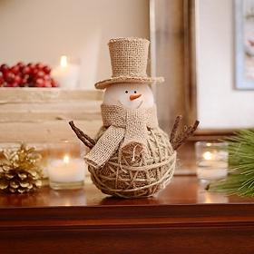 Jute & Burlap Snowman