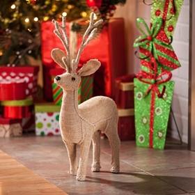 Jute Reindeer Statue