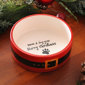 Merry Dog-Gone Christmas Dog Bowl