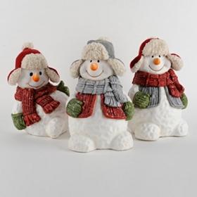 Joyful Snowman Statue
