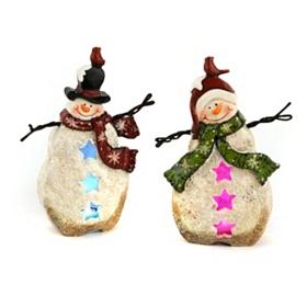 Pre-Lit LED Snowmen Statues