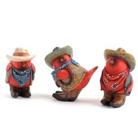 Cowboy Cardinal Figurine