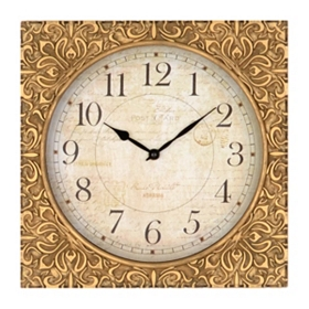 Antique Gold Leaf Wall Clock
