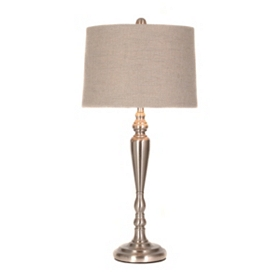 Lumiere Brushed Silver Table Lamp