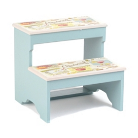 Vintage Blue Step Stool