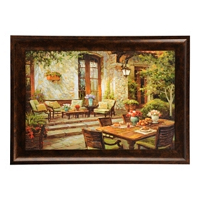 Patio Escape Framed Art Print