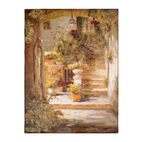 Sunlight & Urns Canvas Art Print