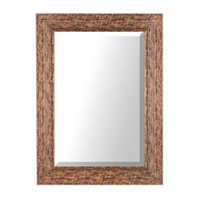 Grooved Dark Metallic Mirror, 34x46