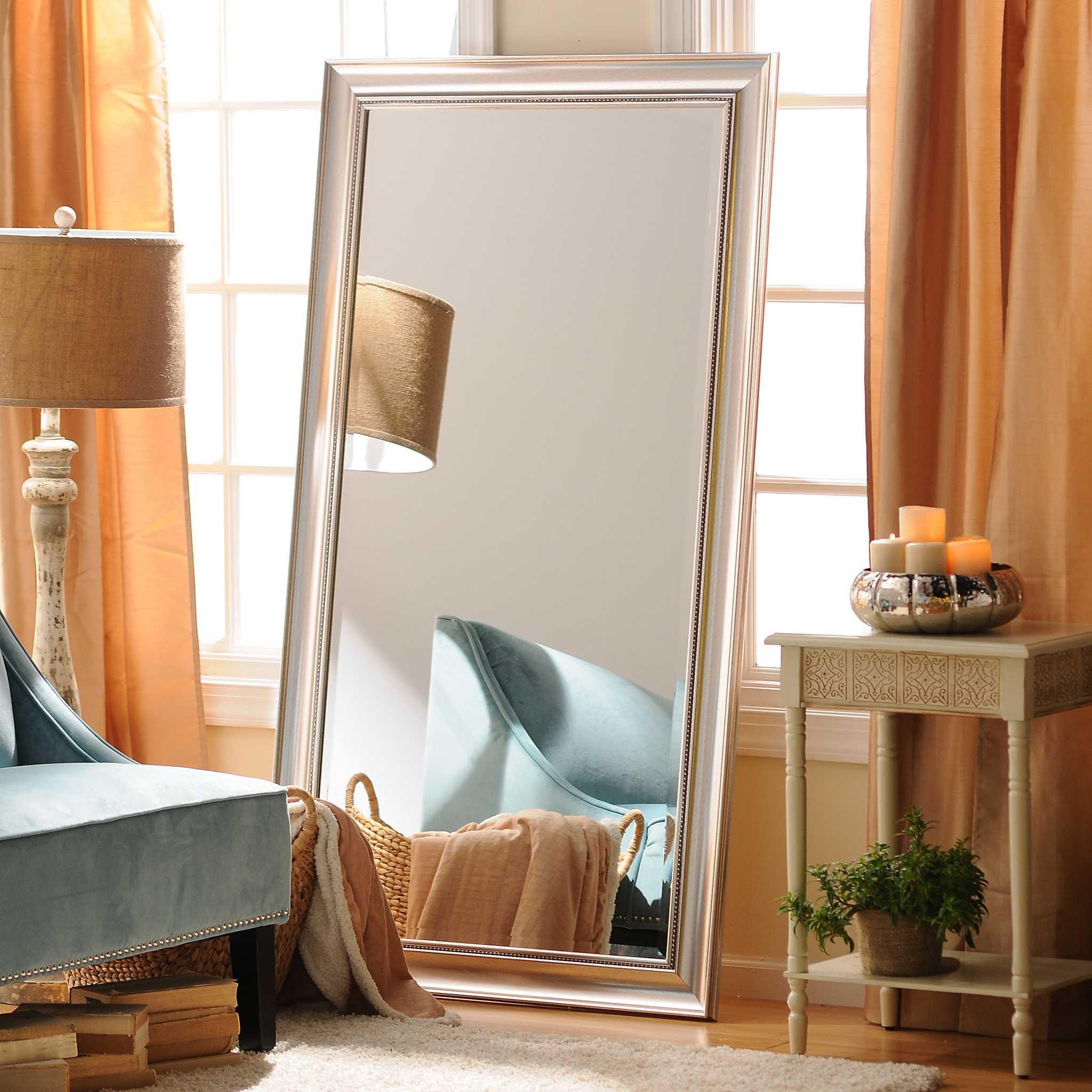 Antique Silver Framed Mirror 38x68 Kirklands