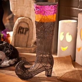 Sequined Wire Witch Boot