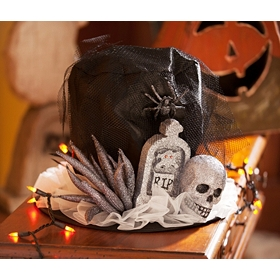 Skull & Headstone Top Hat