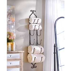 Bronze Metal Hanging Towel / Wine Rack