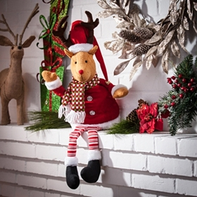 Santa's Reindeer Shelf Sitter