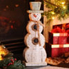 Rustic Winter Snowman Statue, 20 in.