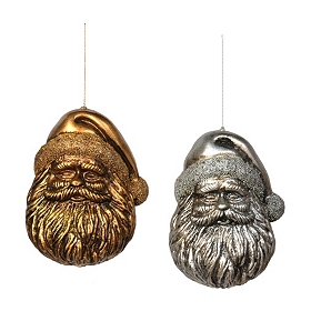 Antiqued Santa Ornament