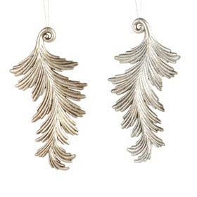 Silver Acanthus Leaf Ornament