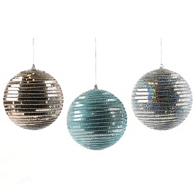 Sequin Stripe Ornament, 6 in.