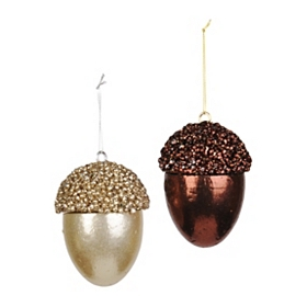 Metallic Acorn Ornament