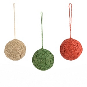 Burlap Yarn Ornament