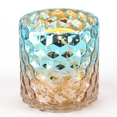 Blue & Brown Honeycomb Hurricane, 5 in.