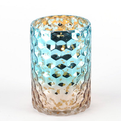 Blue & Brown Honeycomb Hurricane, 7 in.