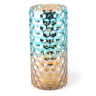 Blue & Brown Honeycomb Hurricane, 10.25 in.