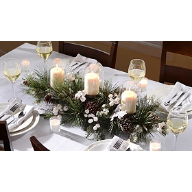 Rustic White Berry Centerpiece