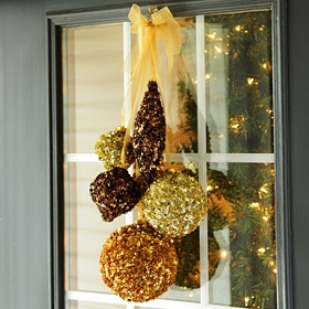 Metallic Glitzy Ornament Swag, 24 in.