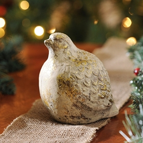Golden Partridge Statue, 6 in.