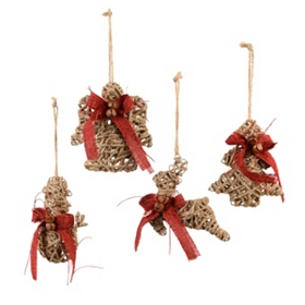 Natural Jute Wrapped Ornaments