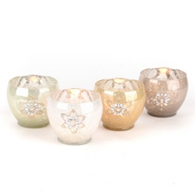 Mercury Snowflake Votive Holders