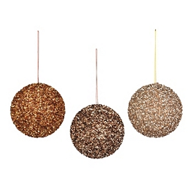 Metallic Sequin Ornament, 4 in.