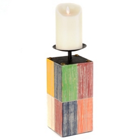 Color Block Candle Holder, 11 in.