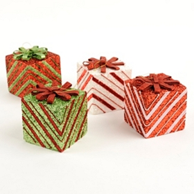 Glitter Present Ornament