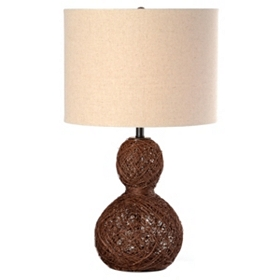Twisted Rattan Table Lamp