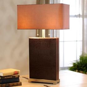 Faux Crocodile Dual Table Lamp