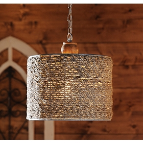Natural Jute Pendant Light