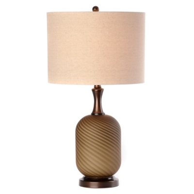Ombre Twist Glass Table Lamp