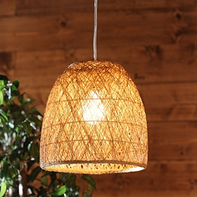 Natural Woven Rattan Pendant Light