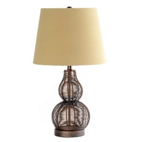 Small Bronze Wire Table Lamp