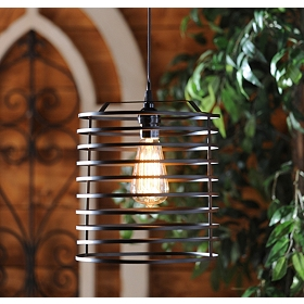 Black Open Metal Pendant Light