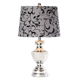 Gray & Black Vine Table Lamp
