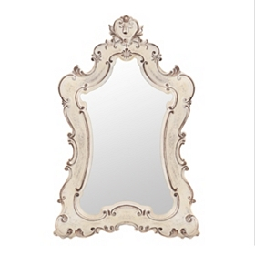 Colette Antique White Venetian Mirror, 33x49