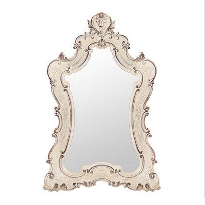 Colette Antique White Venetian Mirror, 33x49