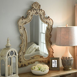 Colette Antique White Venetian Mirror