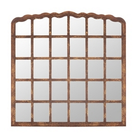 Ansley Rustic Brown Mirror, 46x46